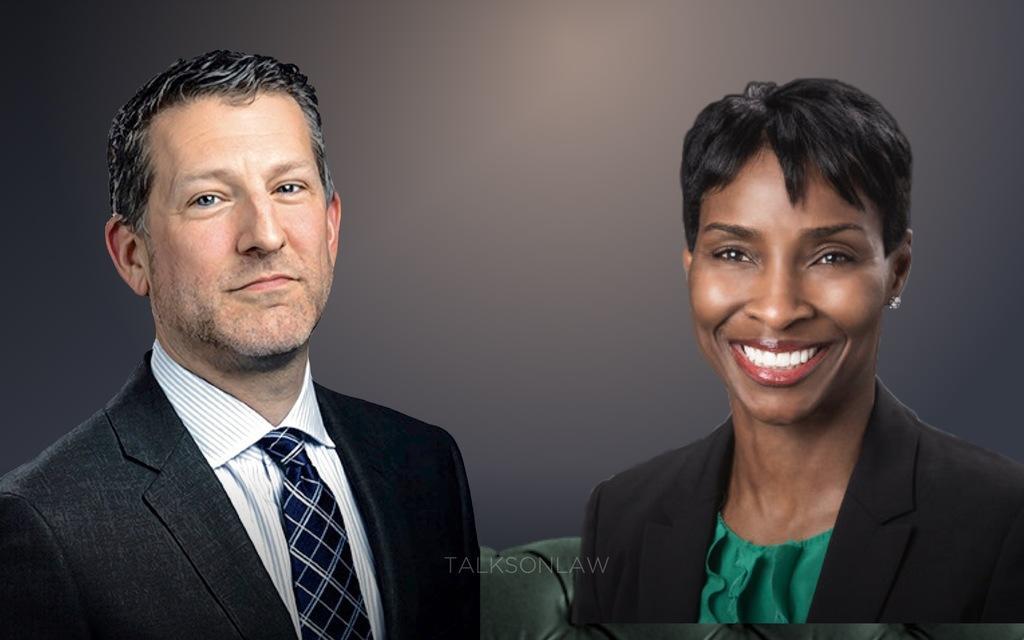 speaker Ira Kustin and Sherrese Smith