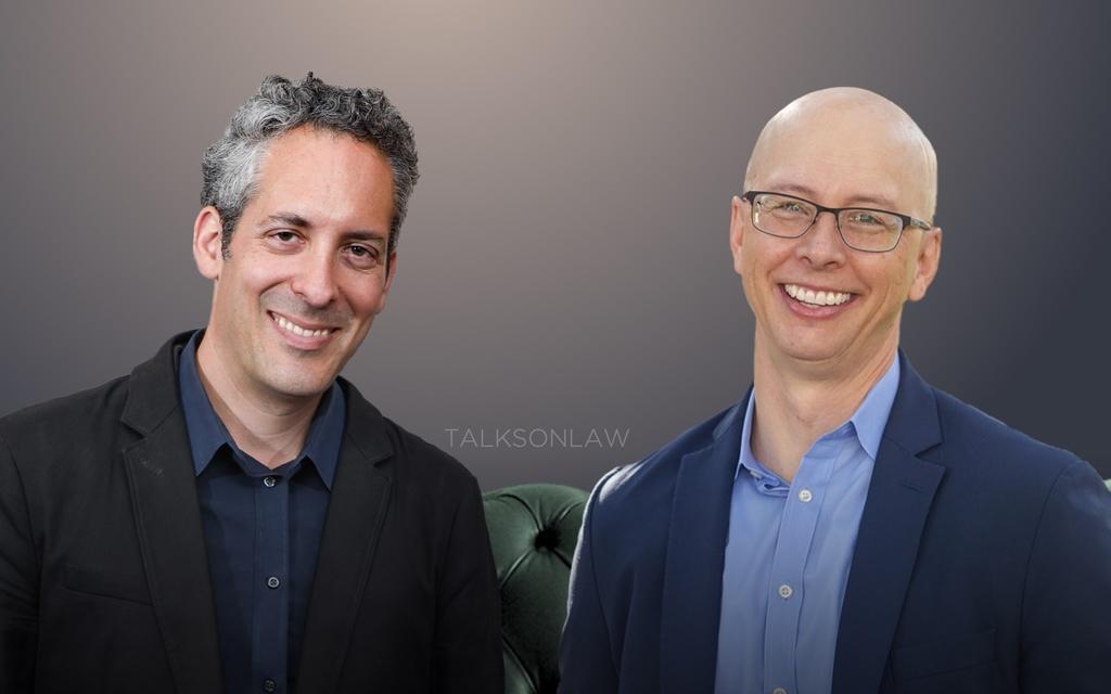 speaker Prof. Brandon Garrett and Dr. Peter Stout