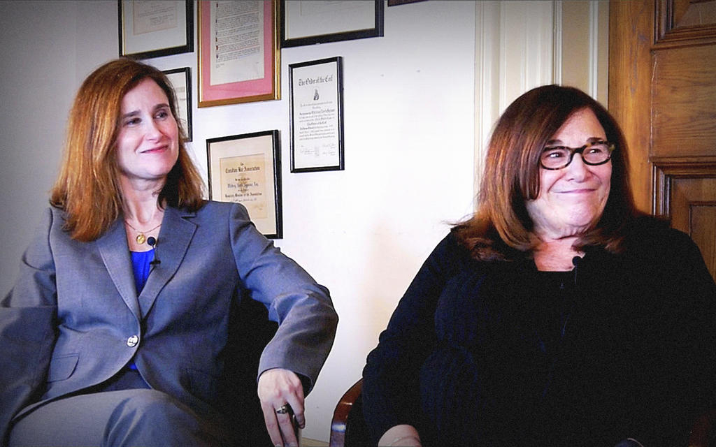 speaker Eileen Travis and Meredith Heller